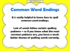 Common Word Endings 2 (slide 3/18)
