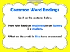 Common Word Endings 2 (slide 4/18)