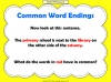 Common Word Endings 2 (slide 5/18)