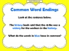 Common Word Endings 2 (slide 6/18)