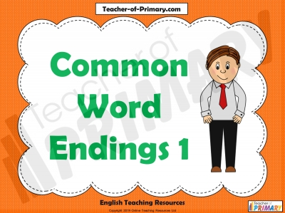 Common Word Endings