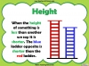 Comparing Lengths and Heights - Year 1 (slide 19/31)