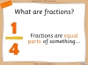 Comparing and Ordering Fractions - Year 3 (slide 3/68)