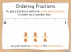 Comparing and Ordering Fractions - Year 3 (slide 32/68)