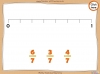 Comparing and Ordering Fractions - Year 3 (slide 37/68)