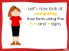 Comparing and Ordering Fractions - Year 5 (slide 9/69)