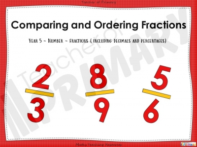 Comparing and Ordering Fractions - Year 5