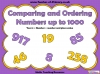 Comparing and Ordering Numbers up to 1000 (slide 1/35)