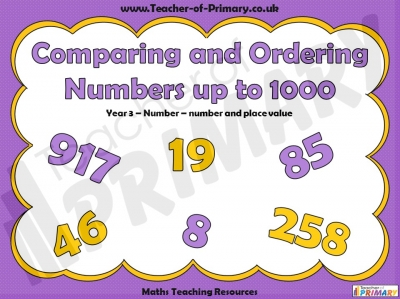 Comparing and Ordering Numbers up to 1000