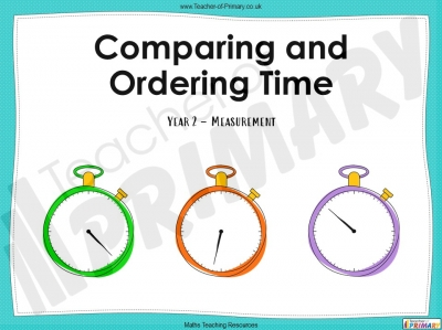 Comparing and Ordering Time - Year 2