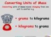 Converting and Comparing Units of Mass - Year 4 (slide 3/36)