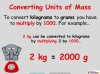 Converting and Comparing Units of Mass - Year 4 (slide 6/36)