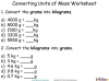 Converting and Comparing Units of Mass - Year 4 (slide 7/36)