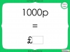 Converting and Comparing Units of Money - Year 4 (slide 13/38)