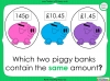 Converting and Comparing Units of Money - Year 4 (slide 28/38)