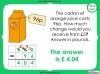 Converting and Comparing Units of Money - Year 4 (slide 31/38)