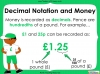 Converting and Comparing Units of Money - Year 4 (slide 7/38)