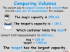 Converting and Comparing Units of Volume - Year 4 (slide 12/36)