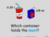 Converting and Comparing Units of Volume - Year 4 (slide 16/36)
