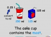 Converting and Comparing Units of Volume - Year 4 (slide 17/36)