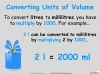 Converting and Comparing Units of Volume - Year 4 (slide 6/36)