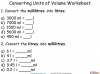 Converting and Comparing Units of Volume - Year 4 (slide 8/36)