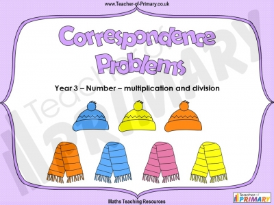 Correspondence Problems - Year 3