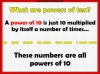 Counting Forwards or Backwards in Powers of 10 (slide 2/102)