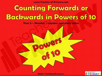 Counting Forwards or Backwards in Powers of 10