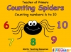 Counting Spiders - Counting Numbers 6 to 10 (slide 1/45)