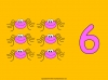 Counting Spiders - Counting Numbers 6 to 10 (slide 13/45)