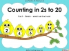 Counting in 2s to 20 - Year 1 (slide 1/30)