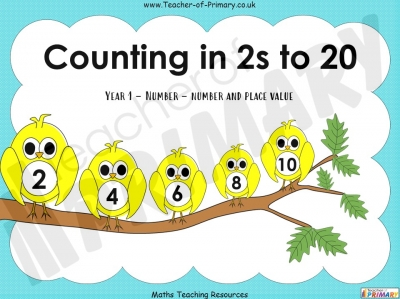 Counting in 2s to 20 - Year 1