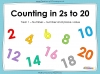 Counting in 2s to 20 (slide 1/17)