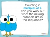 Counting in 2s to 20 (slide 16/17)