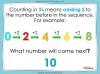 Counting in 2s to 20 (slide 3/17)