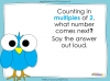 Counting in 2s to 20 (slide 4/17)