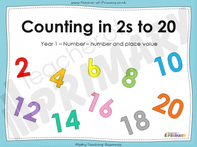 Counting in 2s to 20