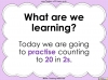 Counting in 2s (slide 2/42)