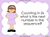 Counting in 2s (slide 28/42)