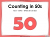 Counting in 50s - Year 3 (slide 1/30)