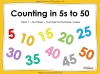 Counting in 5s to 50 - Year 1 (slide 1/32)