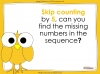 Counting in 5s to 50 - Year 1 (slide 16/32)