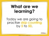 Counting in 5s to 50 - Year 1 (slide 2/32)