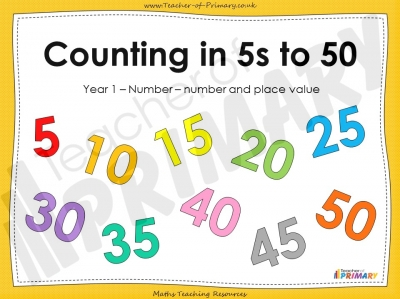 Counting in 5s to 50 - Year 1