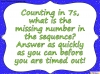 Counting in 7s (slide 19/42)