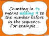 Counting in 9s (slide 3/44)