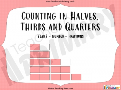 Counting in Halves, Thirds and Quarters  - Year 2