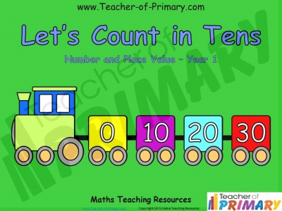Counting in Multiples of Ten Train