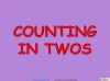 Counting in Multiples of Twos Train (slide 3/28)